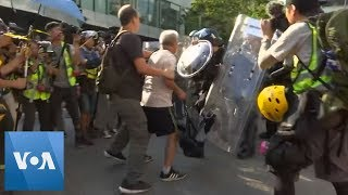 Anti-Government Protesters Confront Police