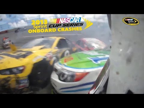 2013 NASCAR Sprint Cup Series Onboard Crashes (Part 1)