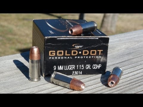 Speer Gold Dot 9mm 115 gr Gel Test