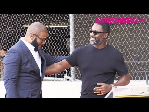 Adrian Long - Idris Elba Gives A Heartfelt Speech At Tyler Perry's Hollywood Walk Of Fame
