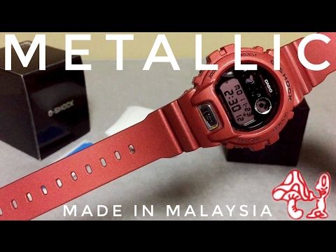 G-Shock FRF DW-6900FL-4MJR Red Metallic-G Watch Unboxing And Review | And Then Some...