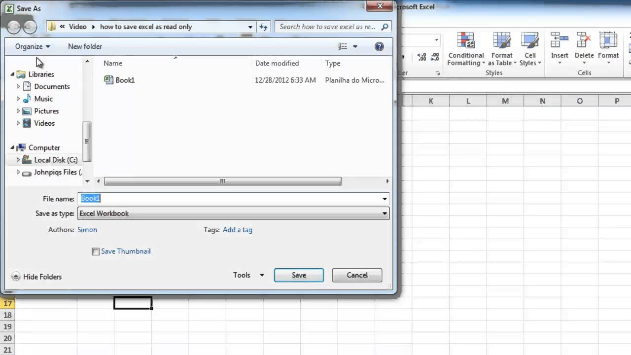 How To Save Excel As Read Only