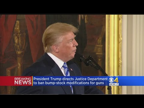 President Trump Directs Justice Department To Ban Bump-Stock Modifications For Guns