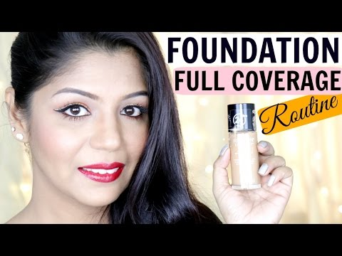 How To Apply Foundation Full Coverage Routine  | SuperPrincessjo thumbnail