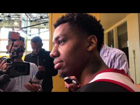 Erik Spoelstra, Hassan Whiteside interviews at Miami Heat practice 3-14-2017