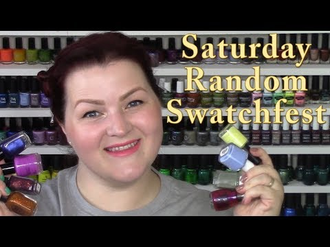 Saturday Random Swatchfest + GRWM 8/12/17
