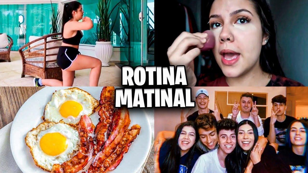 NOSSA ROTINA MATINAL na MANSÃO DOS YOUTUBERS!!!