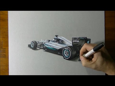 REVEALED! 2016 Mercedes F1 W07 Car in Hyperrealistic 3D Art
