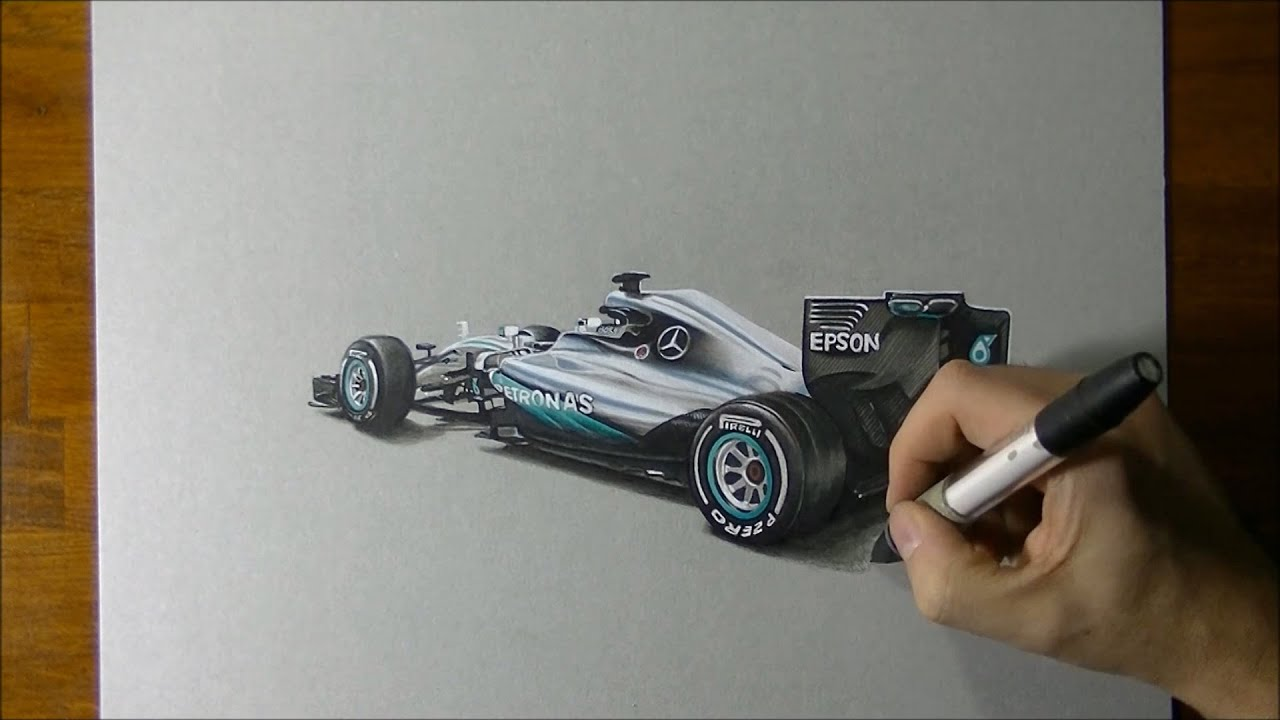 revealed! 2016 mercedes f1 w07 car in hyperrealistic 3d art - youtube