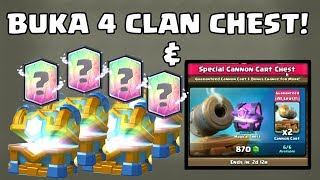 BELI OFFER CANNON CART! BUKA 4 CLAN CHEST! CLASH ROYALE INDONESIA!