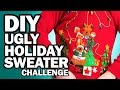 DIY Ugly Holiday Sweater Challenge - Man Vs...
