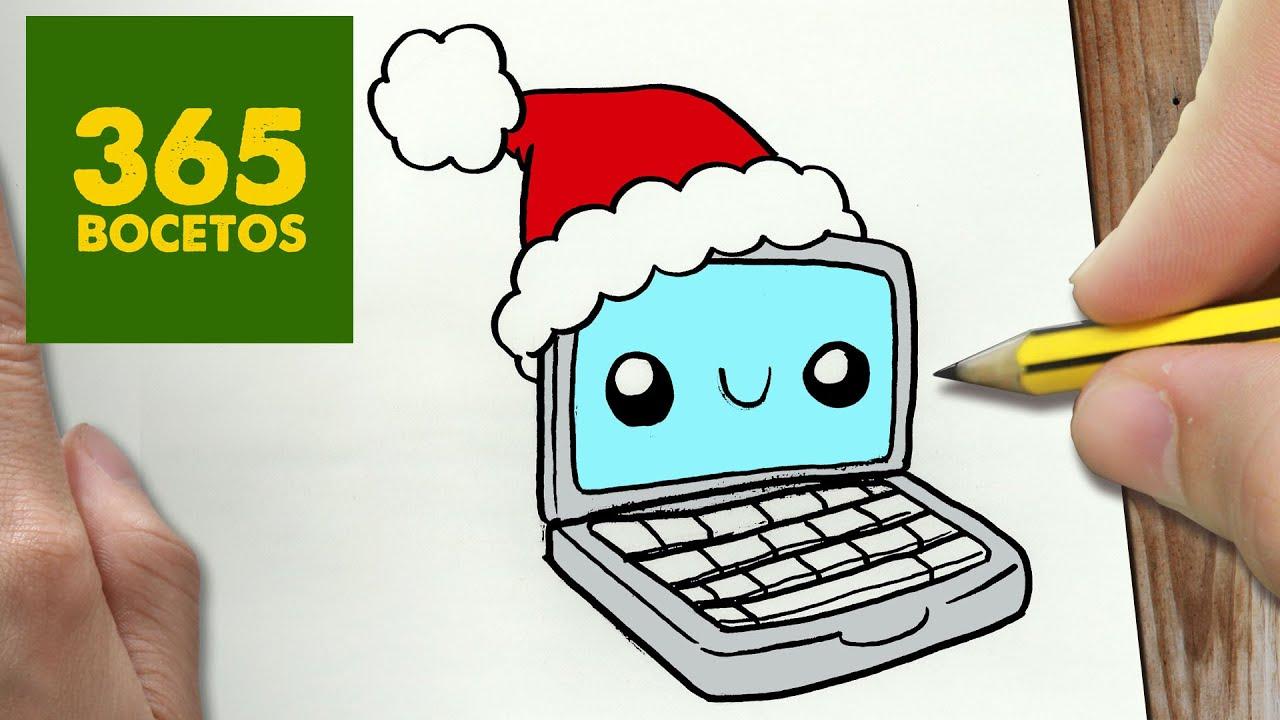 Como Dibujar Un Computadora Para Navidad Paso A Paso Dibujos