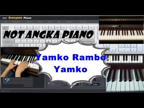 Not Angka Lagu Yamko Rambe Yamko l Lagu Daerah