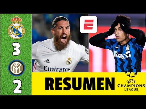 Real Madrid 3-2 Inter Milan. Goles Benzema, Sergio Ramos, Rodrygo. Respira Zidane   Champions League