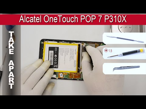 How to disassemble 📱 Alcatel OneTouch POP 7 P310X Take apart Tutorial
