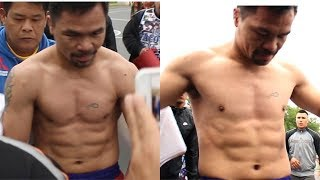 MANNY PACQUIAO SHREDDED FOR KEITH THURMAN CLASH! SHOWS PHYSIQUE