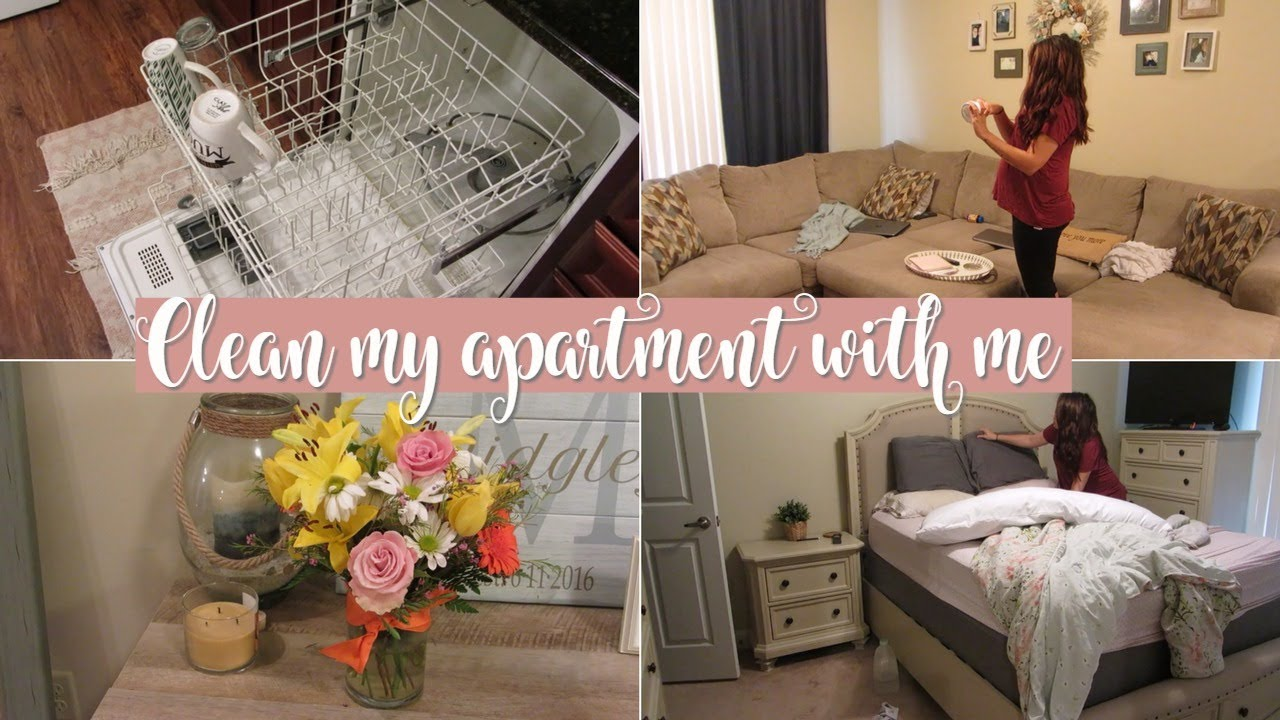 Clean My Apartment w/ Me- Power Hour | 7 months pregnant! - YouTube