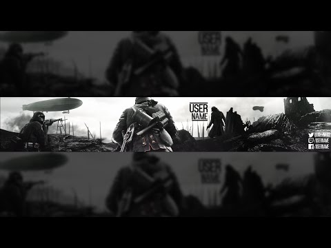 YT BF1 Channel Art Template (DL)  Battlefield - channel banner template