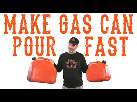 How To Easily Fix A Slow Pouring Gas Can - Video