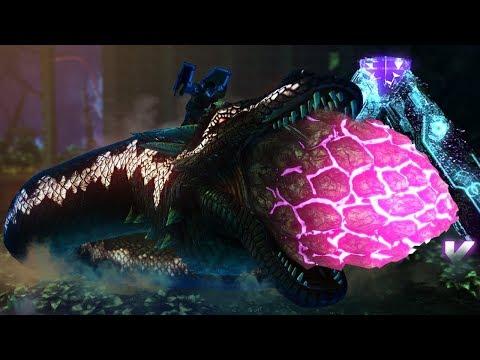 ARK Aberration - RUN! RUN NOW!  Alpha Basilisk Boss Battle & TAMING A NEW BASILISK! - Gameplay