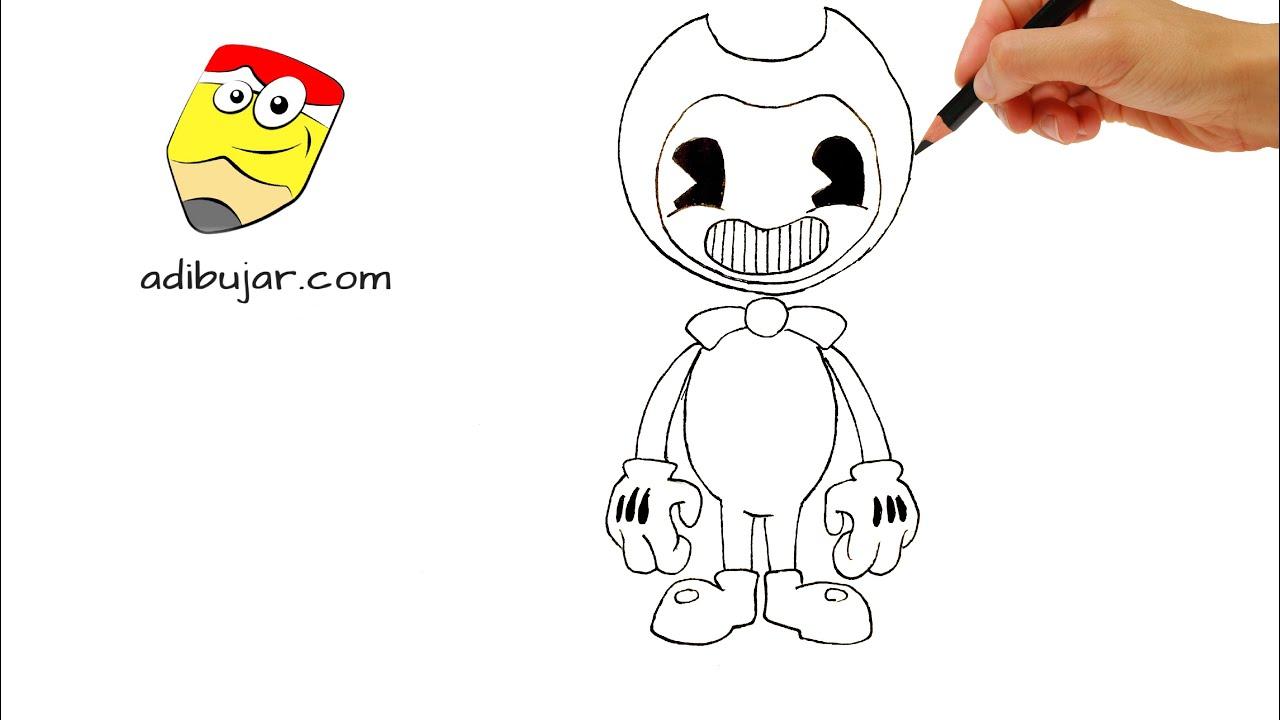 Cómo dibujar a Bendy and the Ink Machine a lápiz fácil ...