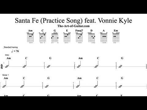 NEW! Full-Length Practice Songs @ The-Art-of-Guitar.com (Santa Fe) feat. Vonnie Kyle