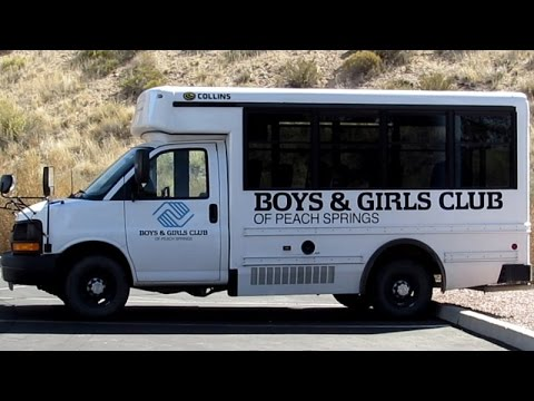 COLLINS VAN BUS ~ BOYS AND GIRLS CLUB ~ PEACH SPRINGS AZ