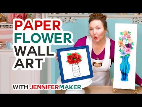 DIY Paper Flower Wall Art Decor (Mason Jars & Vases!)