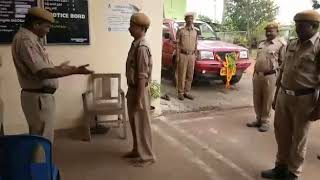 On duty drunk Indian police man