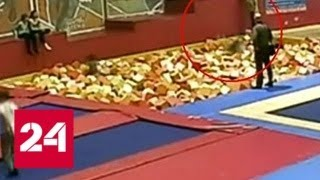 Смертельный прыжок: школьница погибла в батутном центре Тюмени - Россия 24