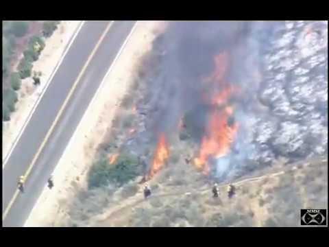 Ventura County Brush Fire 7-4-17 4:19 pm