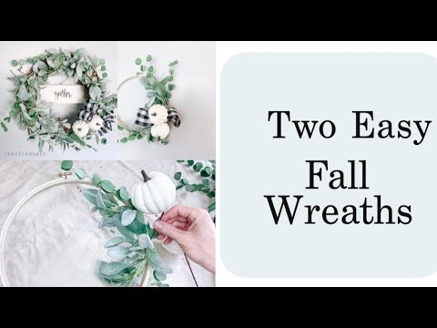 2 EASY DIY Farmhouse Fall Wreaths |Embroidery Hoop and Grapevine Wreath Budget Tutorial