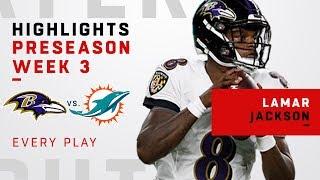 Every Lamar Jackson Throw & Run vs. Dolphins