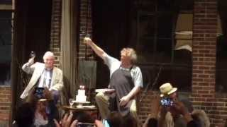 Singing Happy Birthday in French to Jacques Pépin