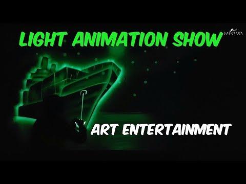 Light Animation painting show DB SCHENKER [ pokaz malowanie światłem ] corporate art entertainment