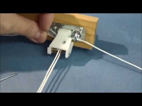 How To String a 3 String Cord Lock for Roman Shades