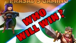 """INDIA VS PAKISTAN"" epic war battle in Clash of clans 