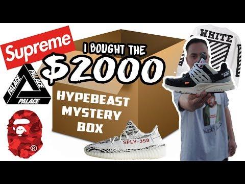 $2000 HYPEBEAST MYSTERY BOX! ACTUALLY GOT FIRE!!! (SUPREME BOX LOGO + OFF WHITE NIKE)