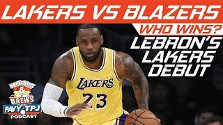 Who wins, LA Lakers vs Portland Trailblazers | Hoops N Brews