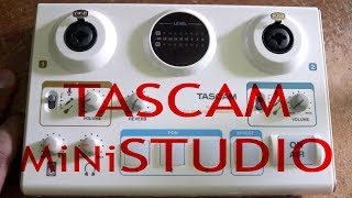 TASCAM MiNiSTUDIO ( US - 42 ) Test And Basic Tutorial