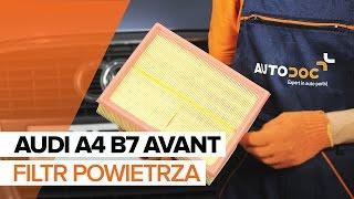 Jak wymienić filtr powietrza w AUDI A4 B7 AVANT TUTORIAL | AUTODOC