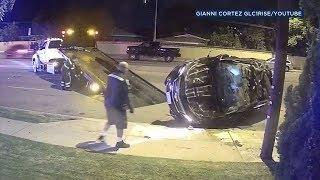 VIDEO: Driver survives violent Whittier crash caught on camera - ABC7
