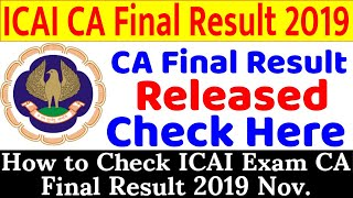 CA Final Result 2019 Release Date How to Check ICAI Exam CA Final Result 2019