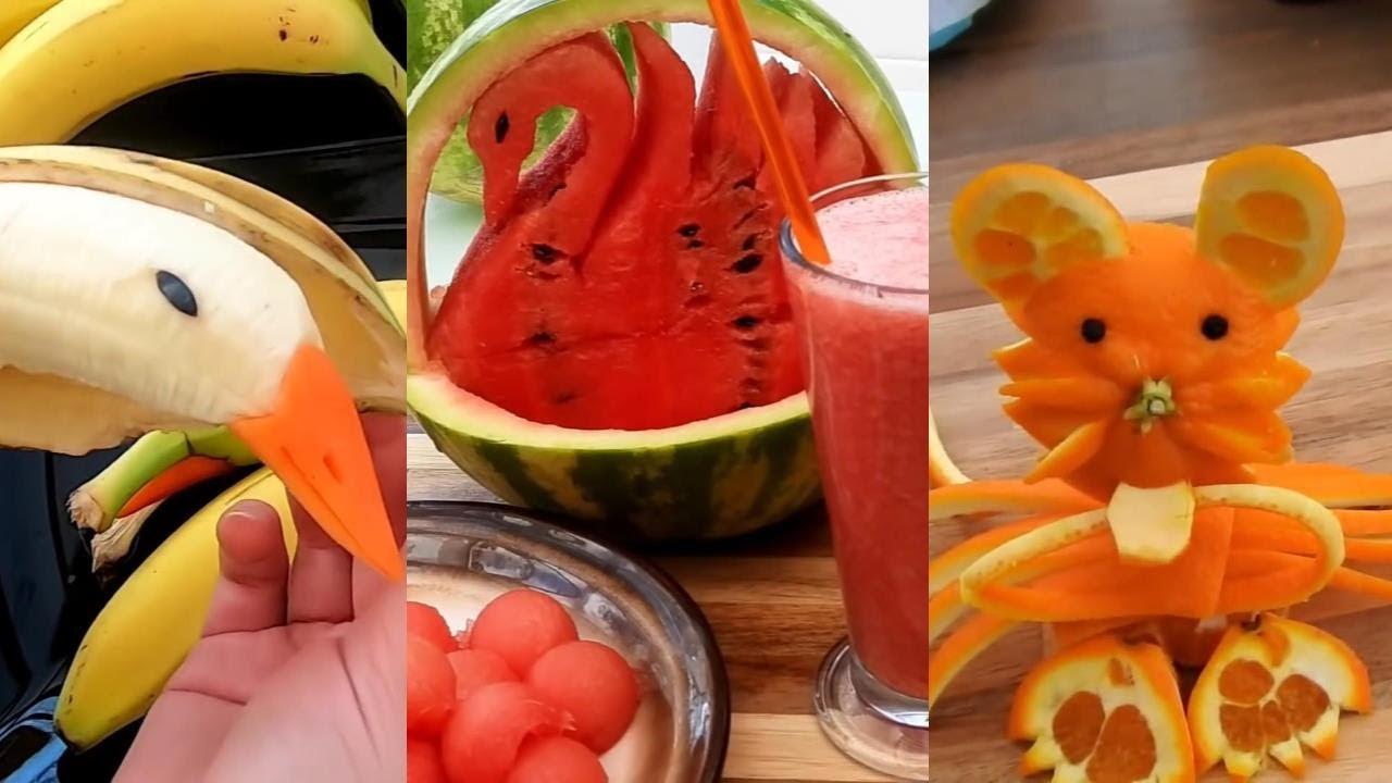10種水果雕刻擺盘让食物变可爰