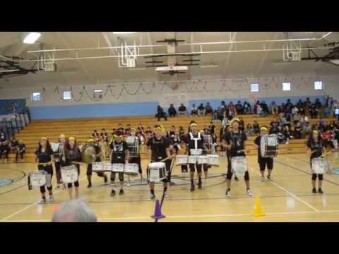 Hercules High School Drumline Multicultural Rally 2015 Pt. 2
