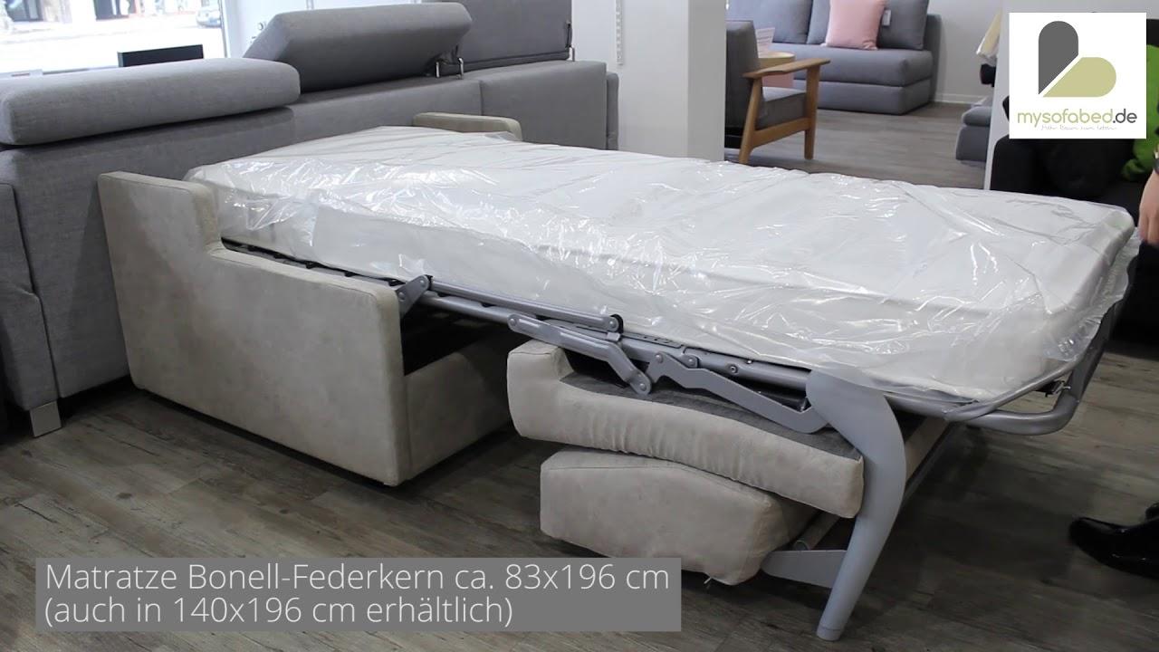 schlafsessel mit matratze virginia von sofaplus youtube