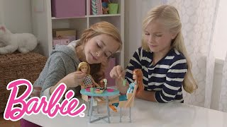 Barbie Slumber Party and Puppy Sushi Fun! | Barbie