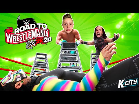 TABLES LADDERS & CHAIRS in WWE 2k20 (Road to WrestleMania Tower Level 4) K-CITY GAMING