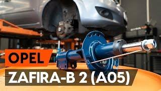 Hoe een veerpoot vooraan vervangen op een OPEL ZAFIRA-B 2 (A05) [AUTODOC-TUTORIAL]