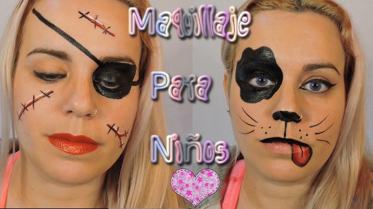 Maquillaje Infantil Para Carnaval Perrito y Pirata Fantasa 11